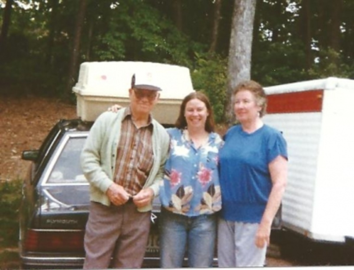 My Dad, Mom and Sister in 1990