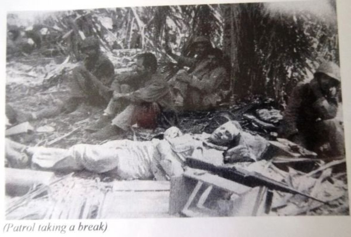 Patrol taking a break during World War II