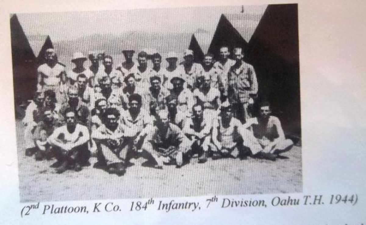 2nd Plattoon, K Co. 184th Infantry, 7th Division, Oahu T.H. 1944