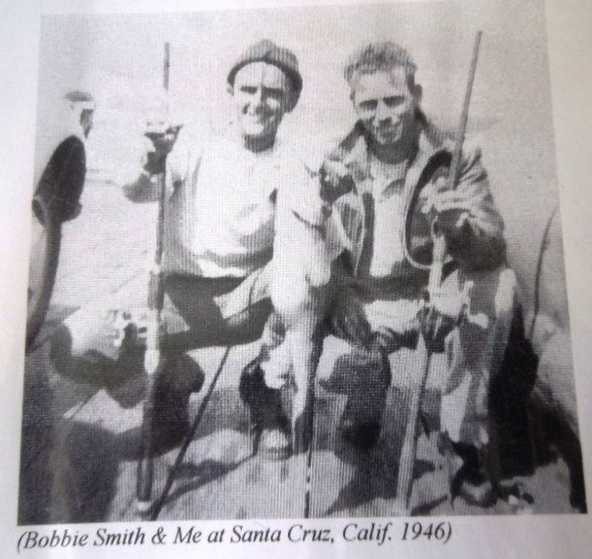 Bobbie Smith and Me at Santa Cruz, Calif. 1946
