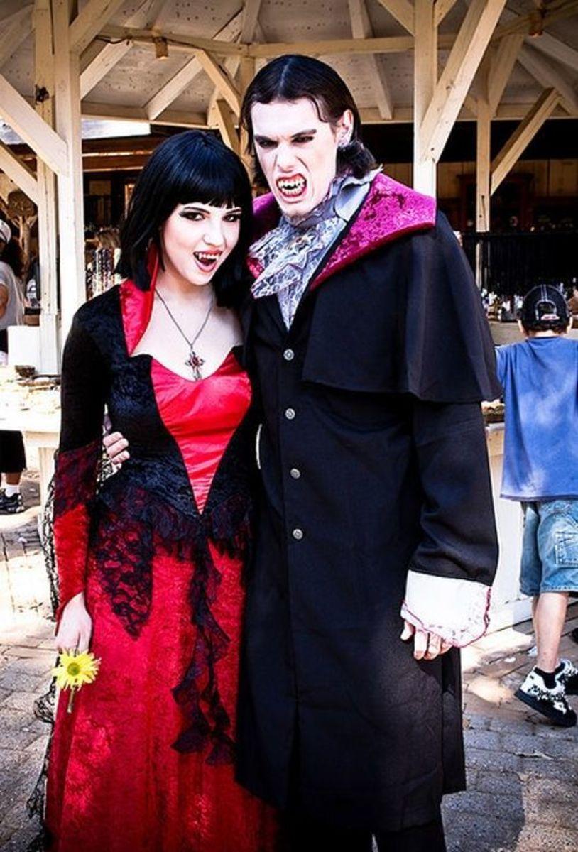 "Vampire Goths at the ""Texas Renaissance Festival"