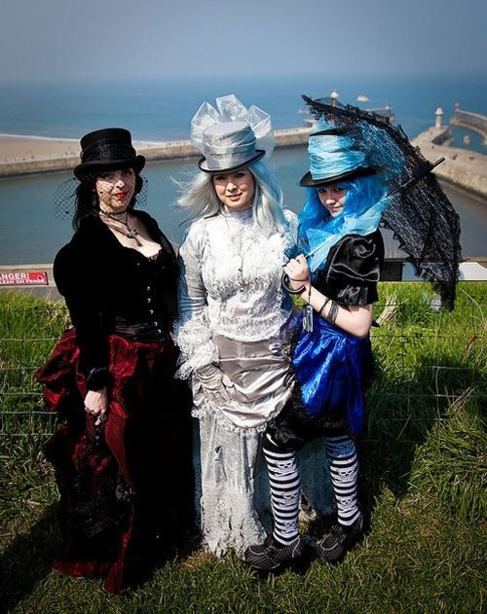 Victorian Goth and Steampunk fashion