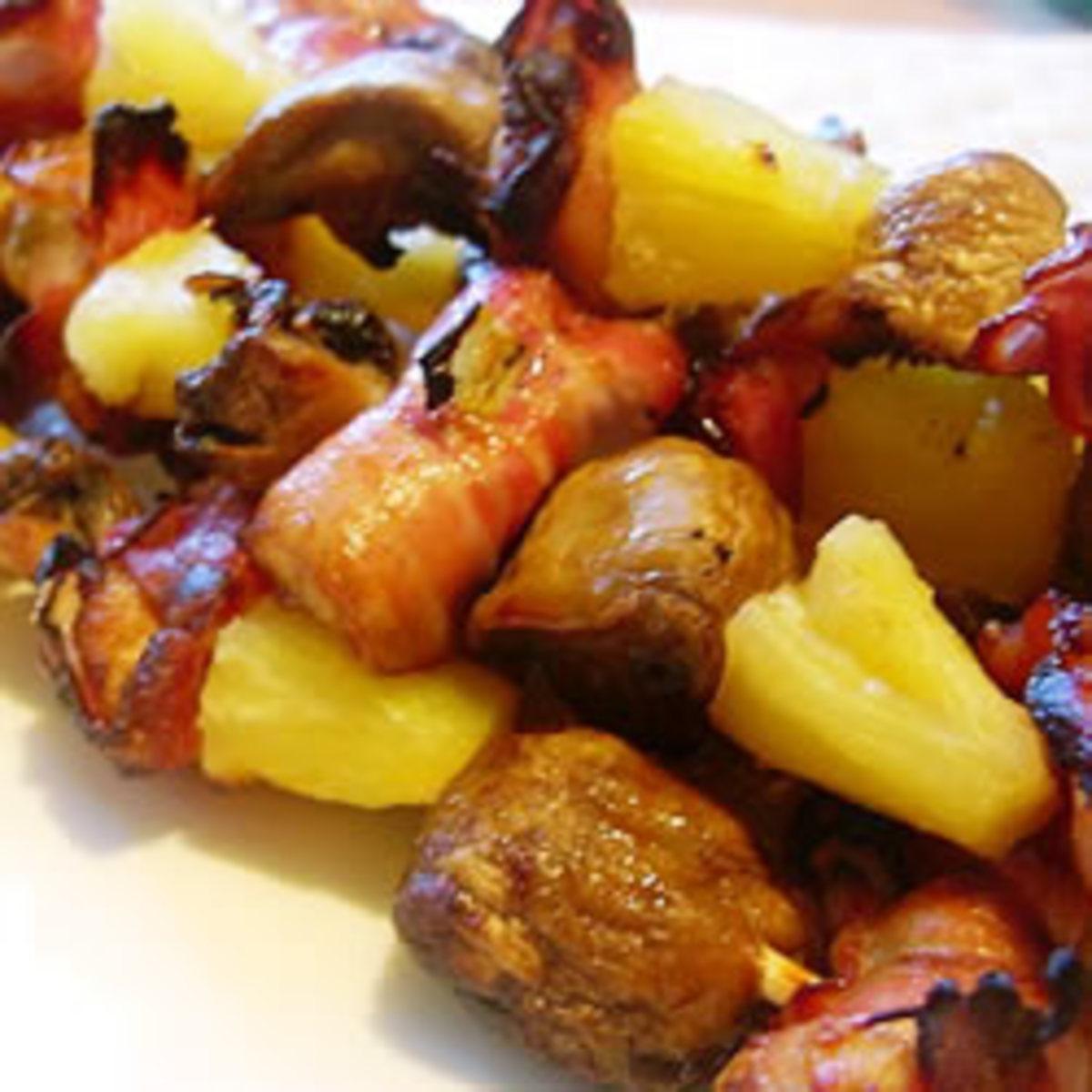 Chicken & Bacon shish kabobs