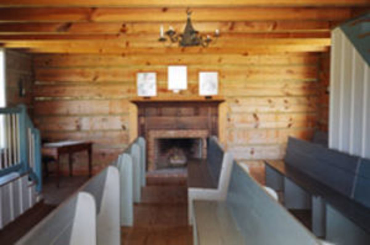 The council house at New Echota was the seat of government for the Cherokee Nation