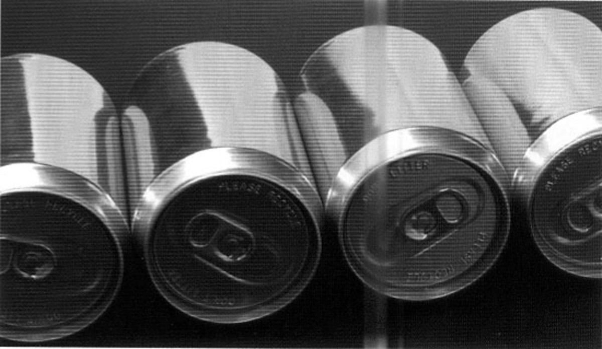 Letting valuable resources like aluminum cans go to waste is money down the drain.