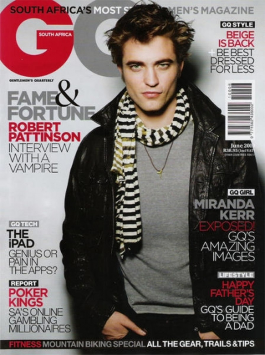 Rob Pattinson on GQ Africa June 2010