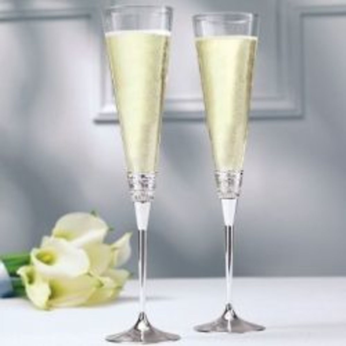 Wedding toast flutes