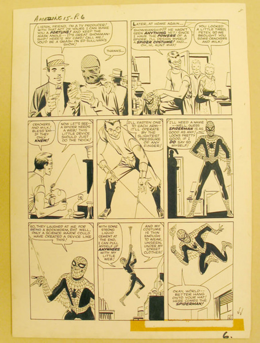 About Rare Comic Book Art Drawings