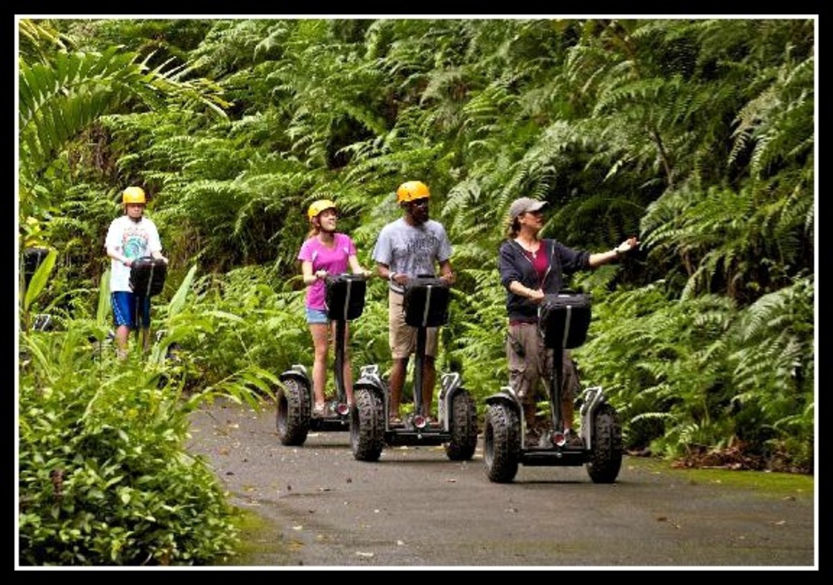 Segway Adventure at the World Botanical Gardens on the Big island of Hawaii