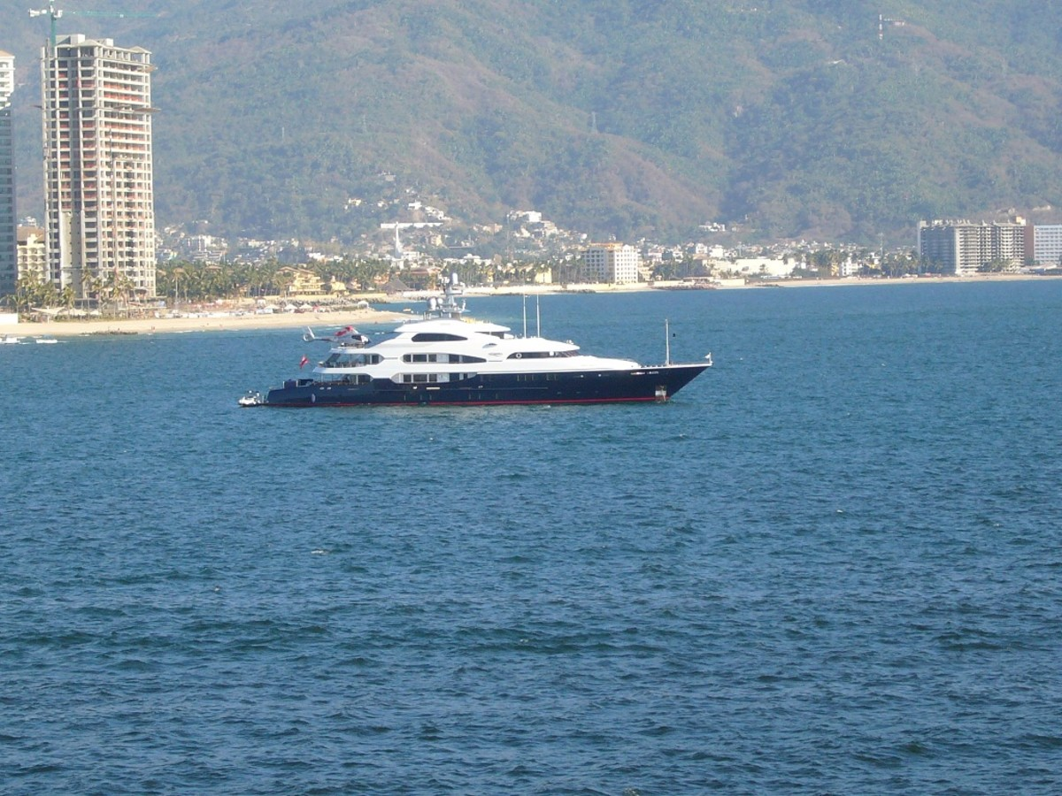 A Sighting of the Yacht Attessa Anchored at Puerto Vallarta