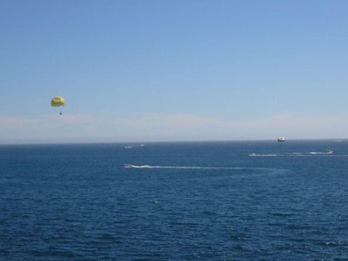 Para-sailing at Cabo San Lucas