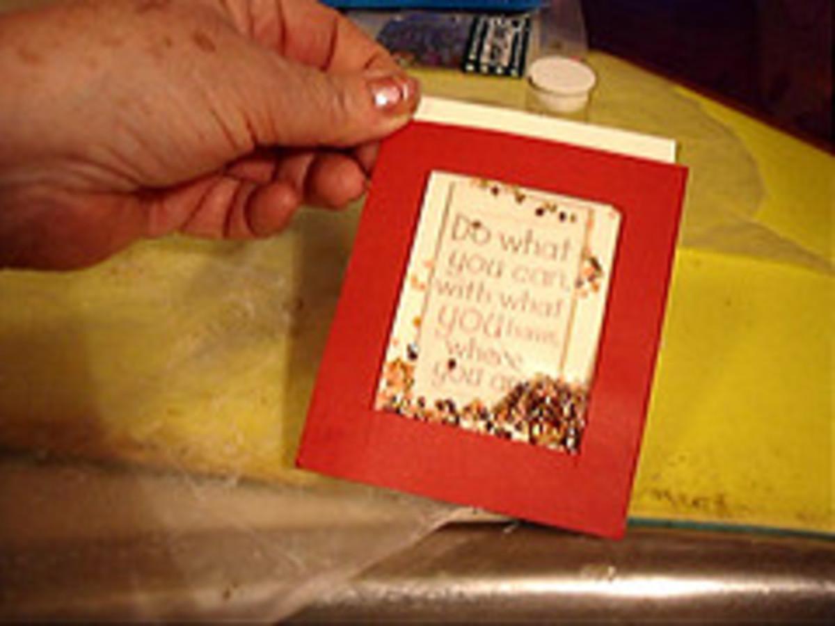 Shaker Box on Cover of Gift Card Holder