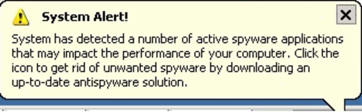 A Trojan Virus generates fake alerts