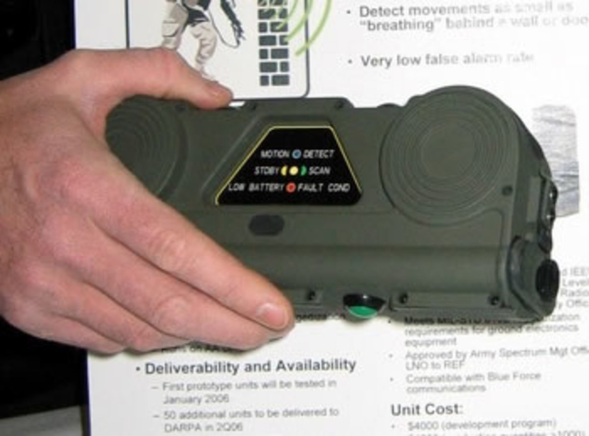 DARPA: Recently Deployed Hand Held RADAR Scope