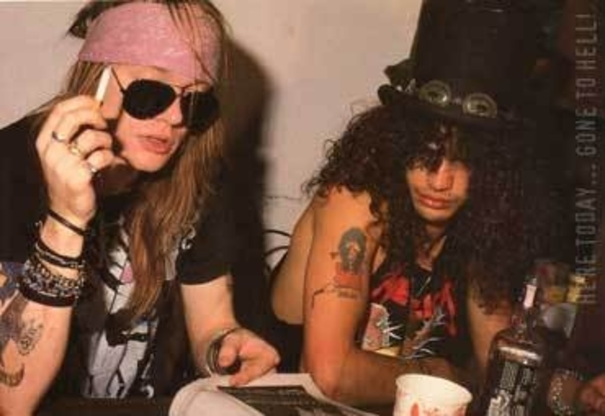 Axl Rose and Slash at CBGB - Guns n Roses
