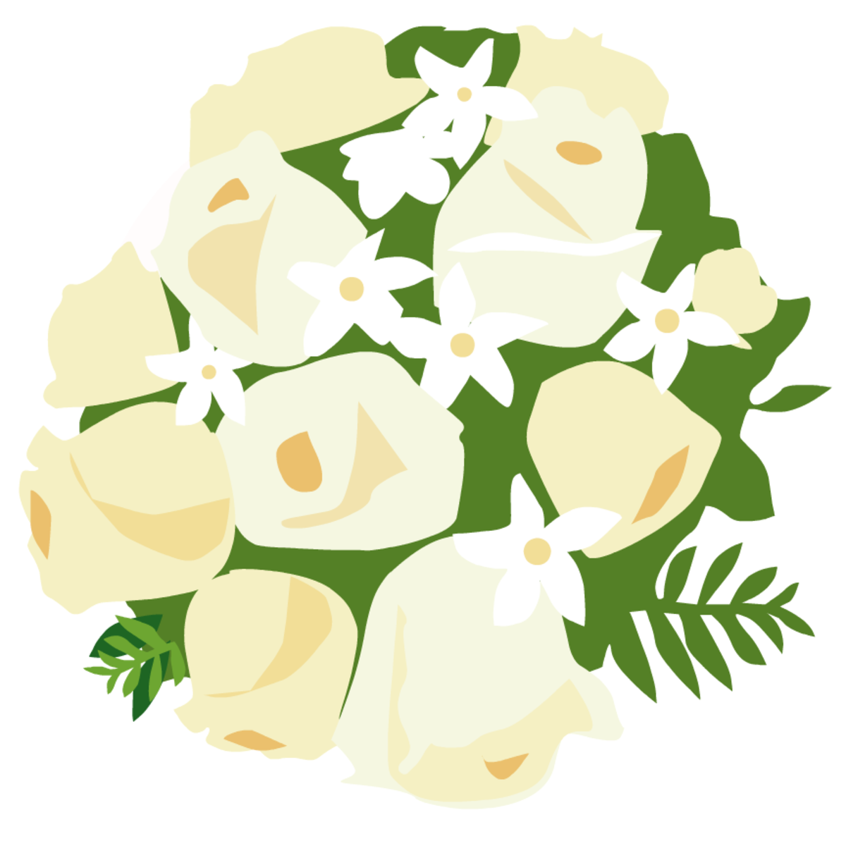 free bride's bouquet of roses clip art
