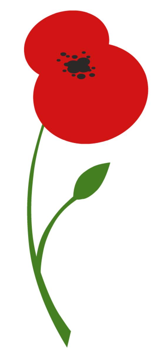 free red poppy flower clip art