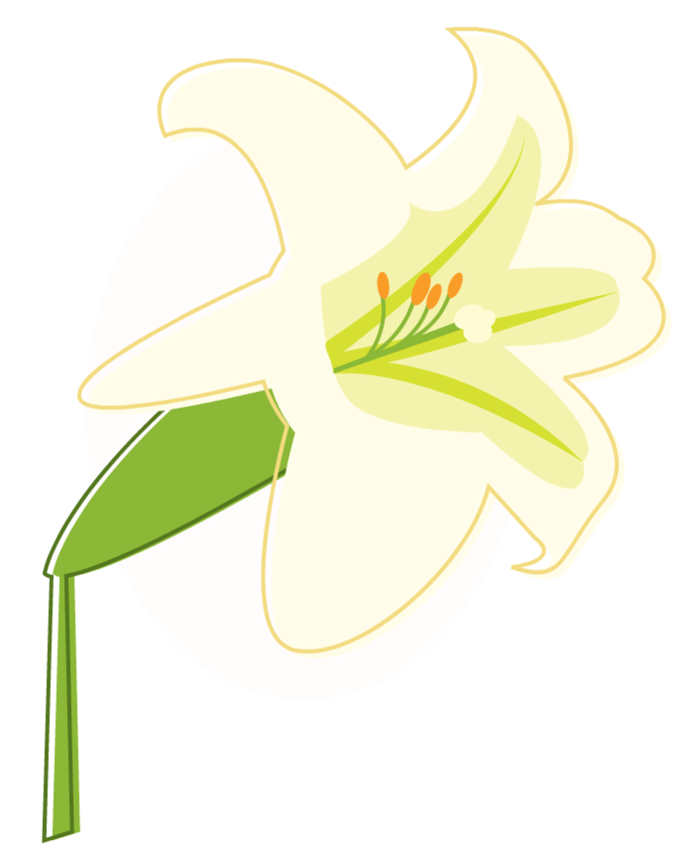 free Easter lily clip art