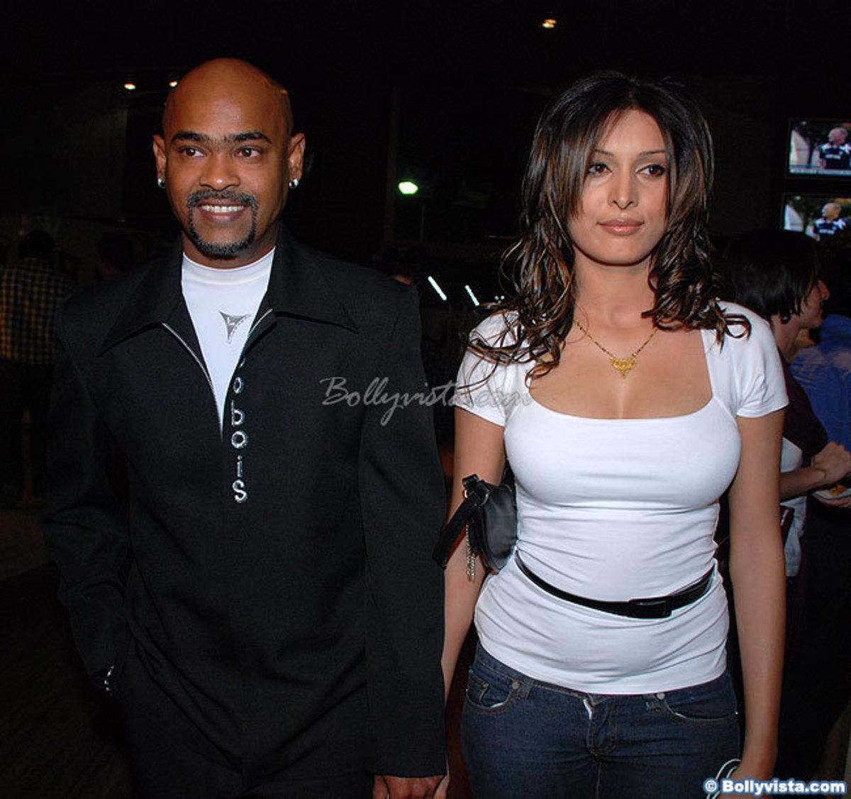 Vinod Kambli and his wife Andrea