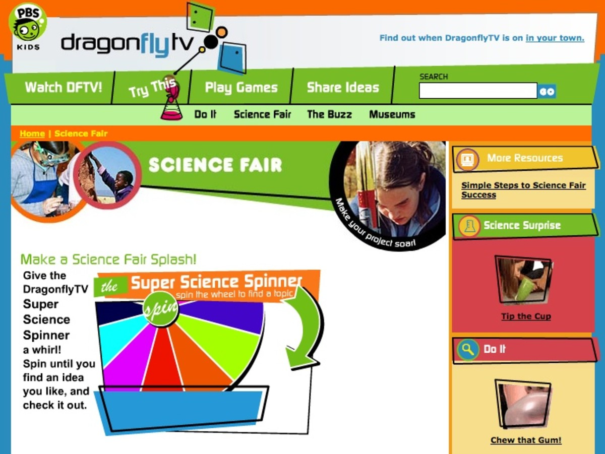 Dragonfly TV Science Fair Projects