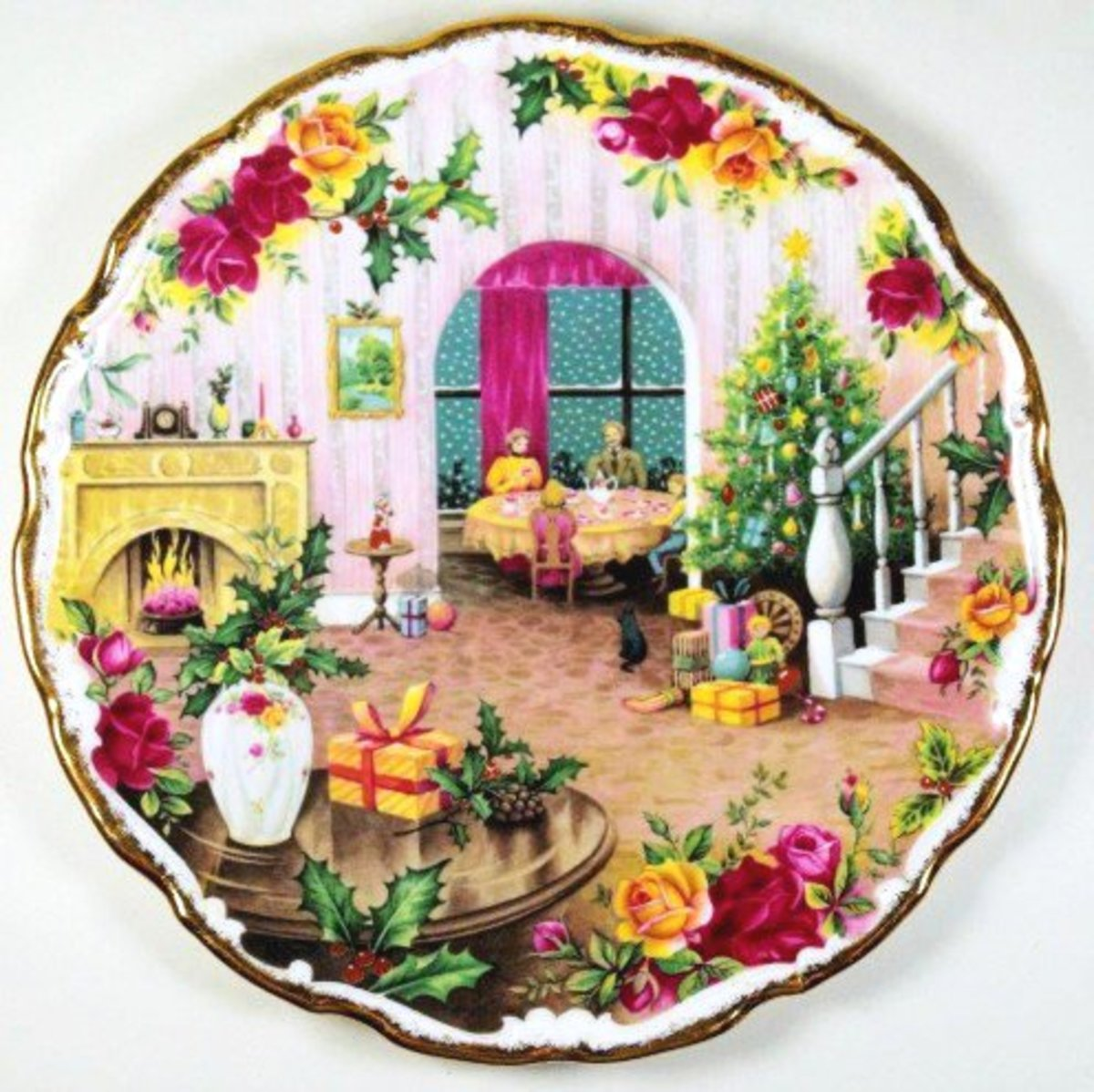 Royal Albert Christmas Collector Plates--Nostalgic Scenes Depicting the Magic of the Season