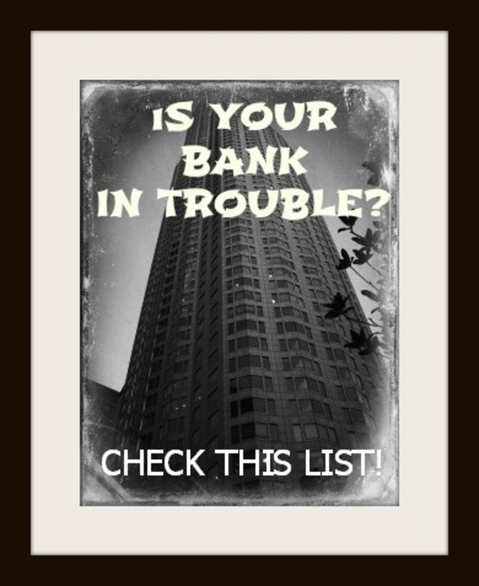 Check the list to see if your bank is in trouble.