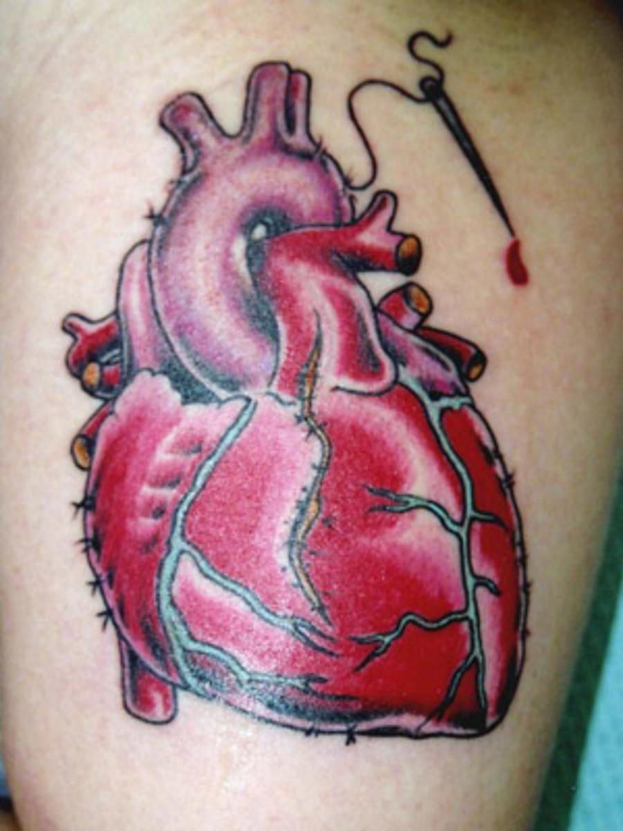 Realistic Heart Tattoo