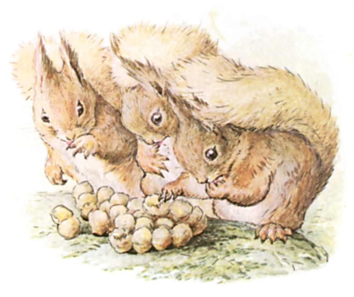 From the 1903 THE TALE OF SQUIRREL NUTKIN BY BEATRIX POTTER