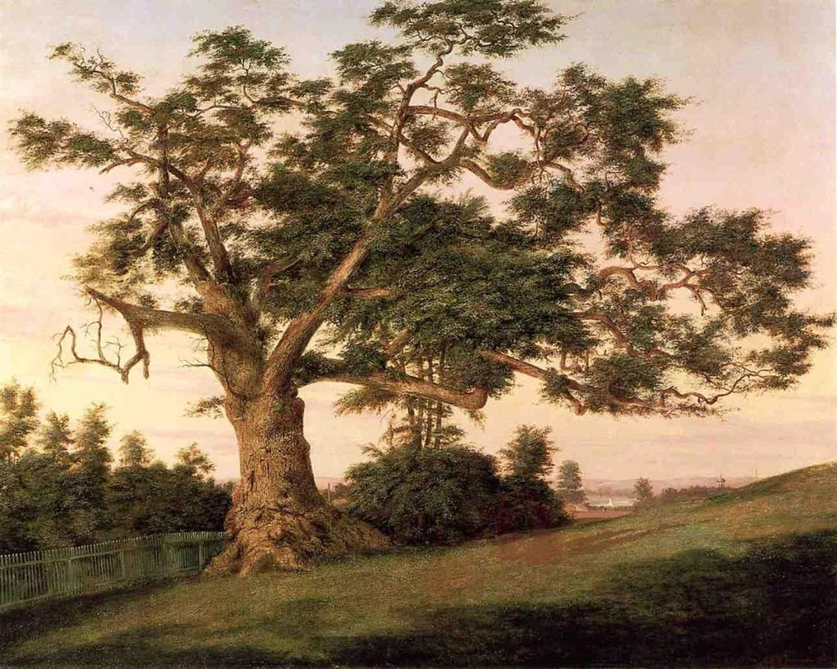 The Charter Oak, oil on canvas, 1857.