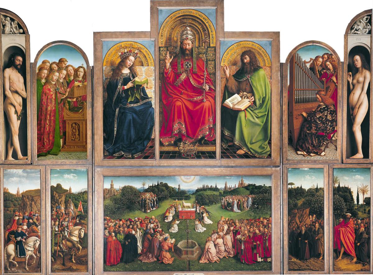 Van Eyck's Ghent Altarpiece a.k.a. Retable de l'Agneau mystique