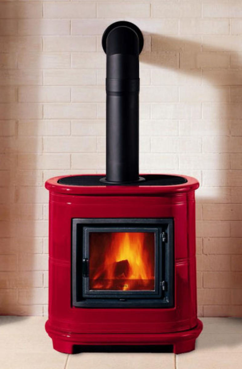 Modern Wood Burning Stove - Piazzetta E905