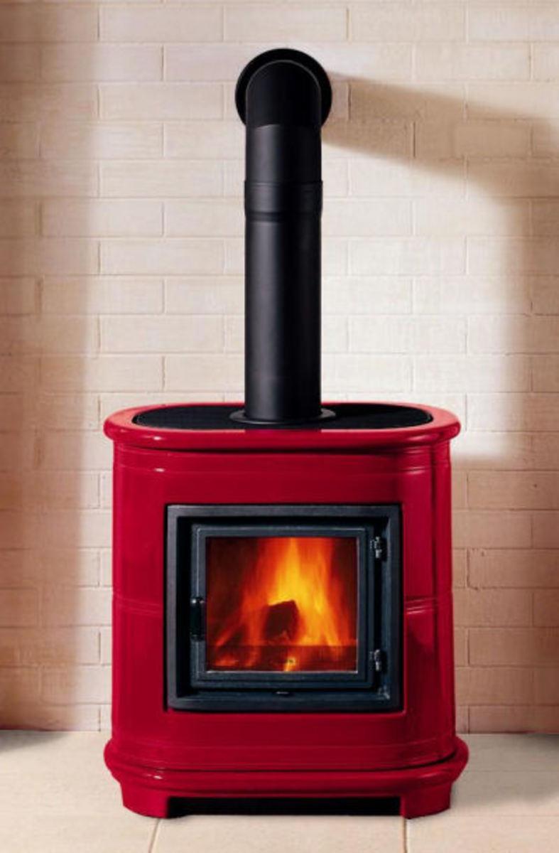 Modern Wood Burning Stove - Piazzetta E905