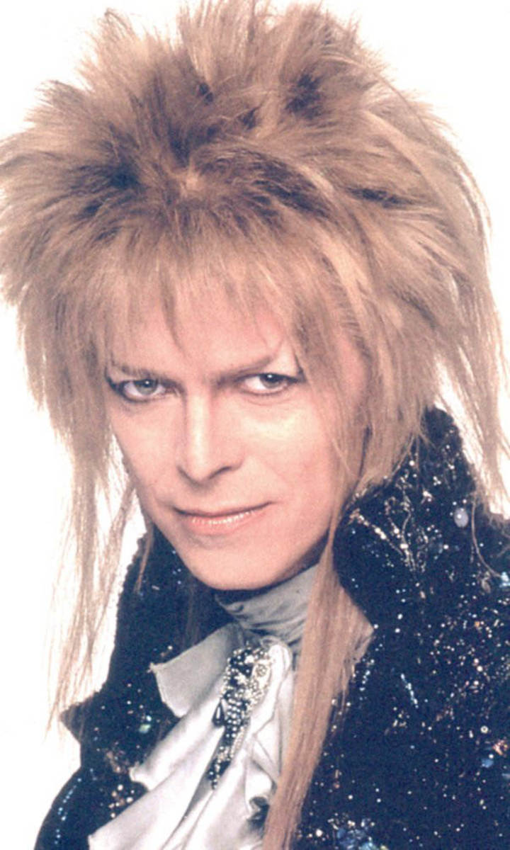Bowie as Jareth in the cult classic Labyrinth. Photographer unknown.