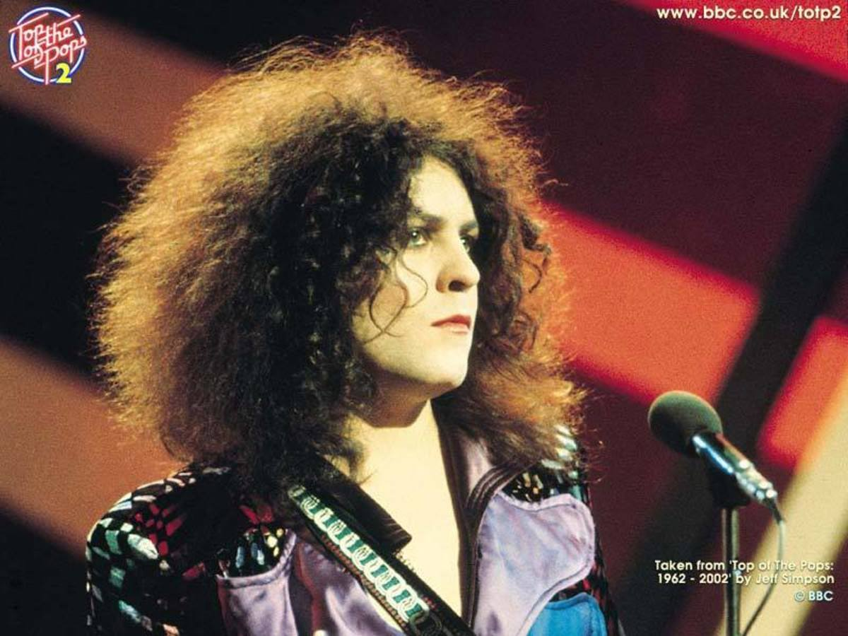 Marc Bolan of T-Rex. Photographer unknown.