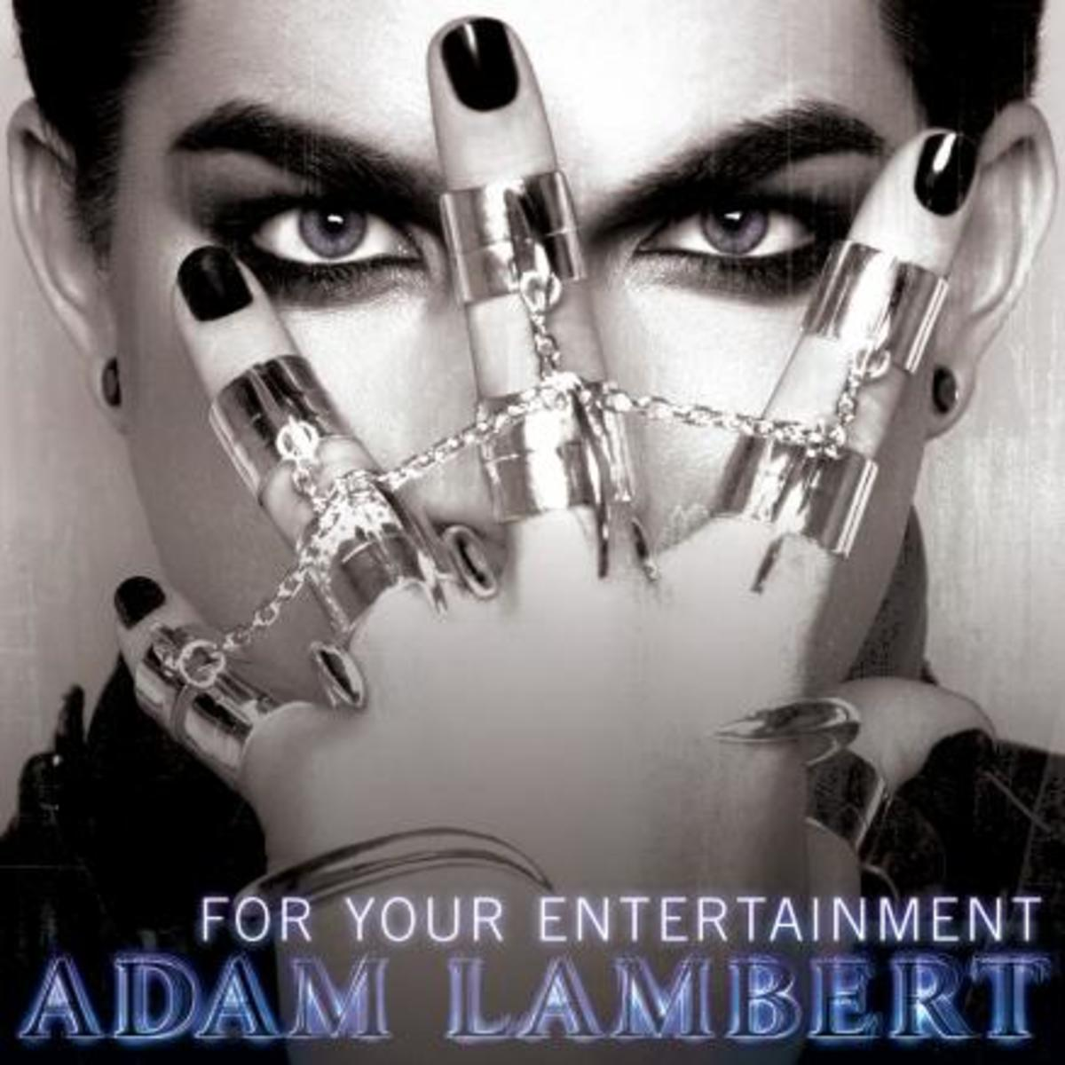 He's even wearing guyliner on the cover of his first solo album!