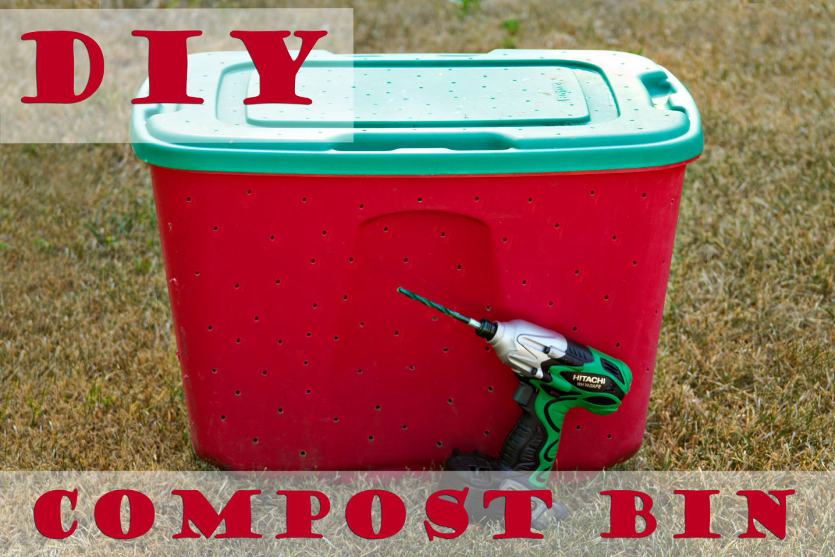 Here is a really simple compost bin can make and use.