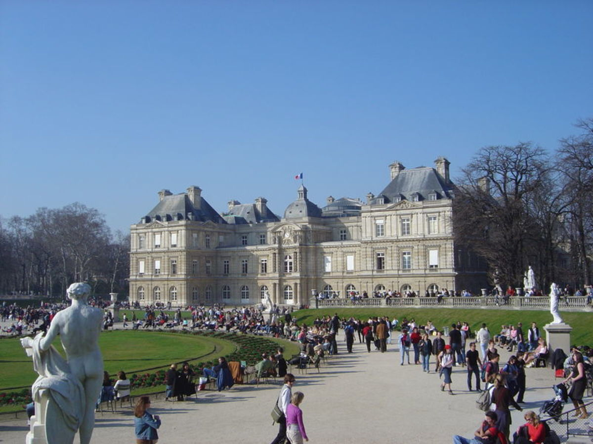 French Senate seen from Luxembourg Gardens