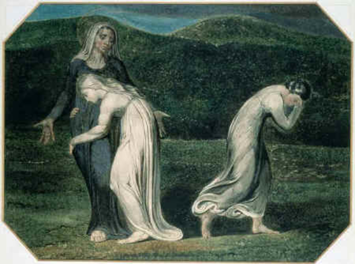 Ruth and Naomi Painter: William Blake Date 1795 Bible Art Gallery