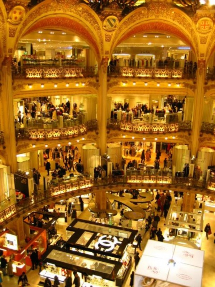 Inside the Galeries Lafayette