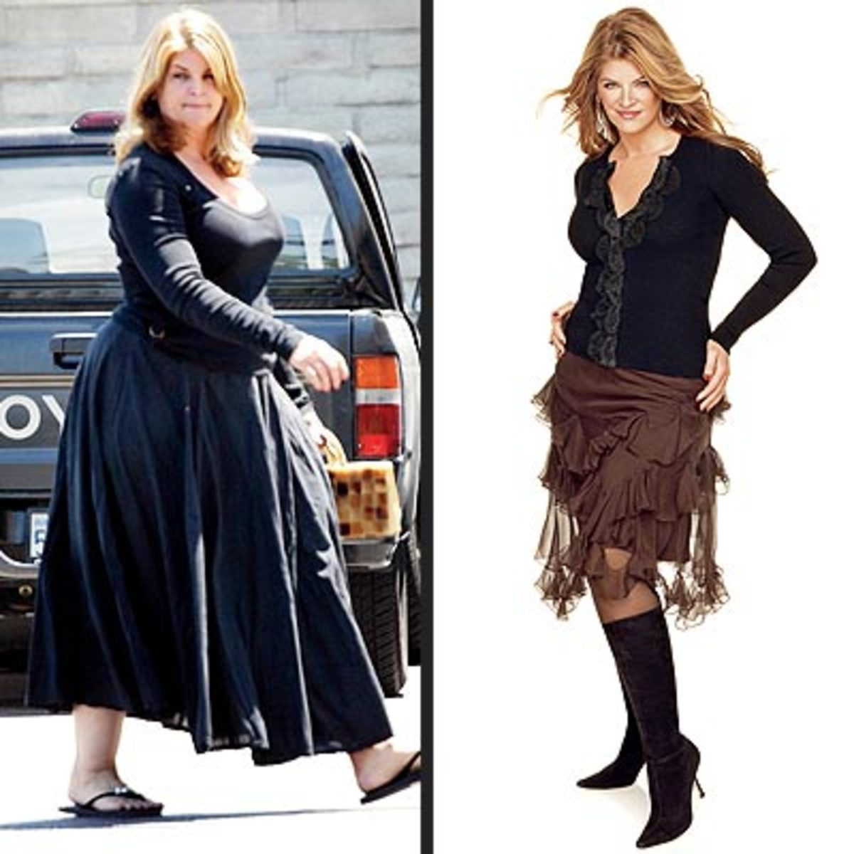 Kirstie Alley before and after pic #2