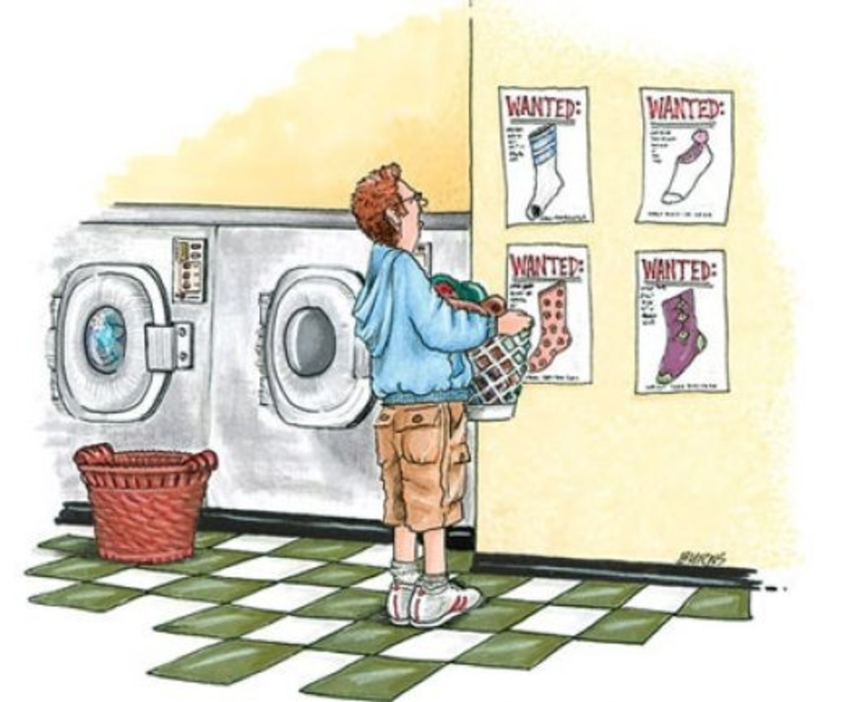 I've always wondered where those lost socks go. Do they go to an alternate dimension?