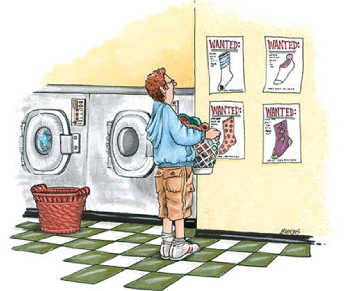 Where Did My Missing Sock Go. Did the Washer Eat It? Or Was It A Gremlin In The Dryer? Do You Know Where My Sock Is?