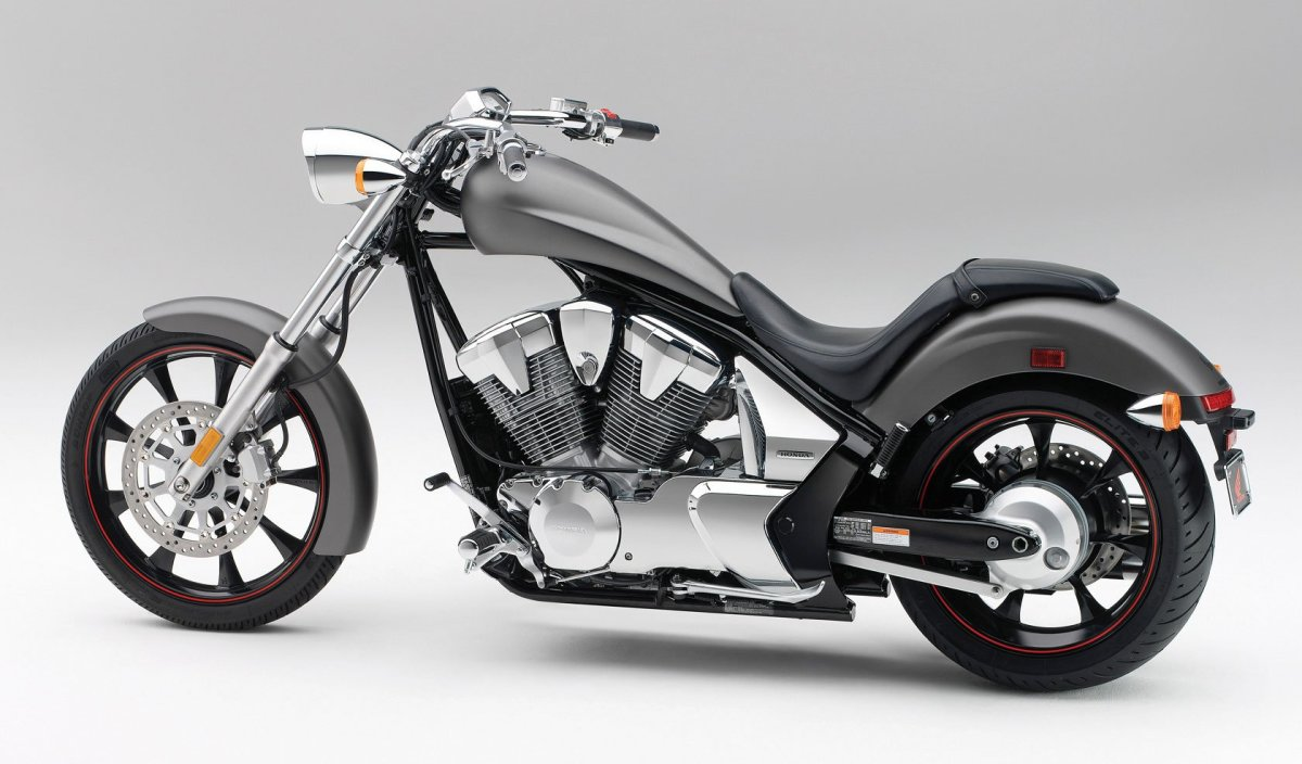 The Honda Fury seems to find a proper ol skool balance in gunmetal gray with red wheel rim lines.
