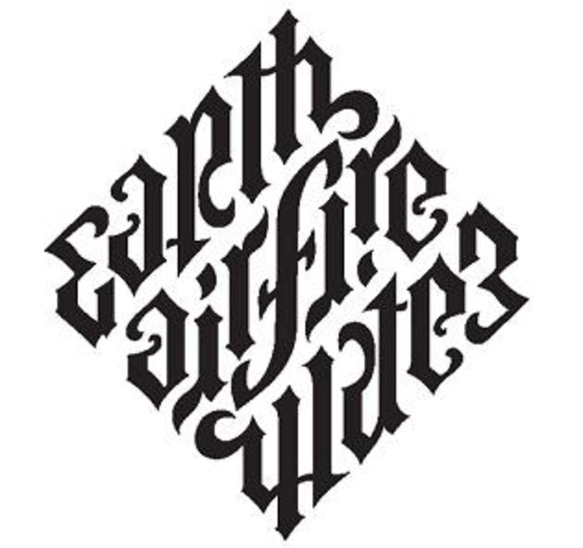 The Mystery of Ambigrams Tattoo (Earth Fire Water Air)