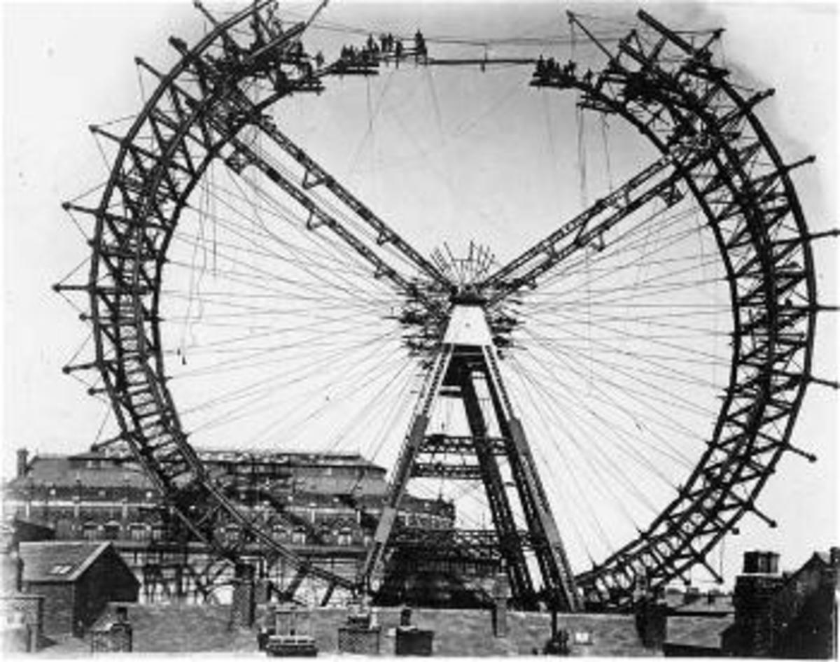 Gigantic Wheel under construction