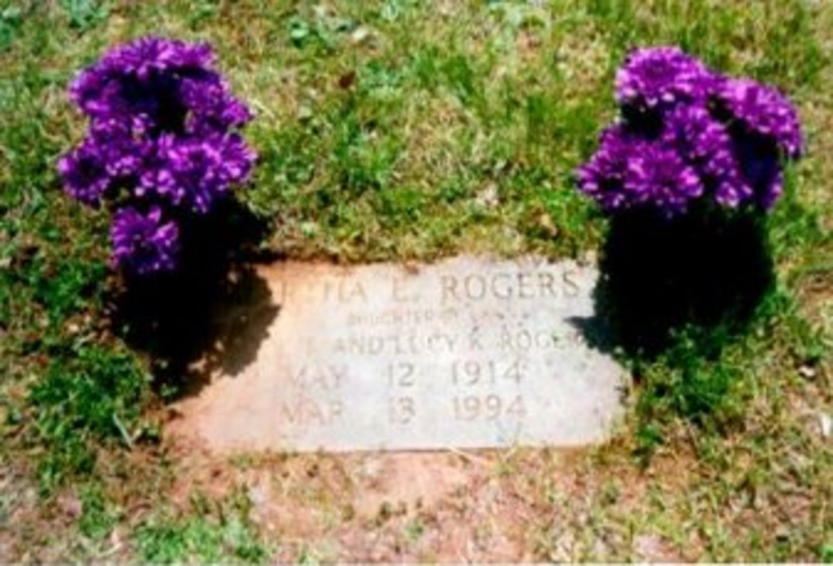 gravestone of Martha E Rogers