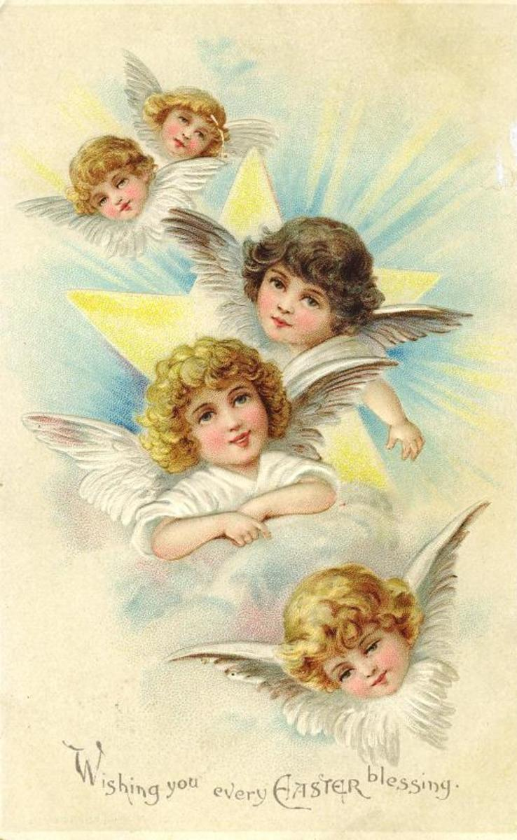 Four Easter angels