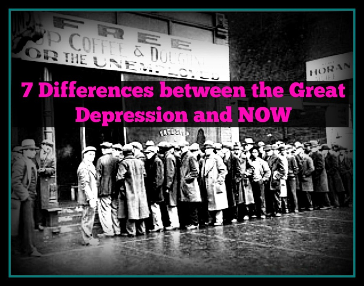 comparison of the great depression and The many great leaders of this country have foraged, failed, and overcome some  very difficult times comparing the great depression of 1929 and the great.