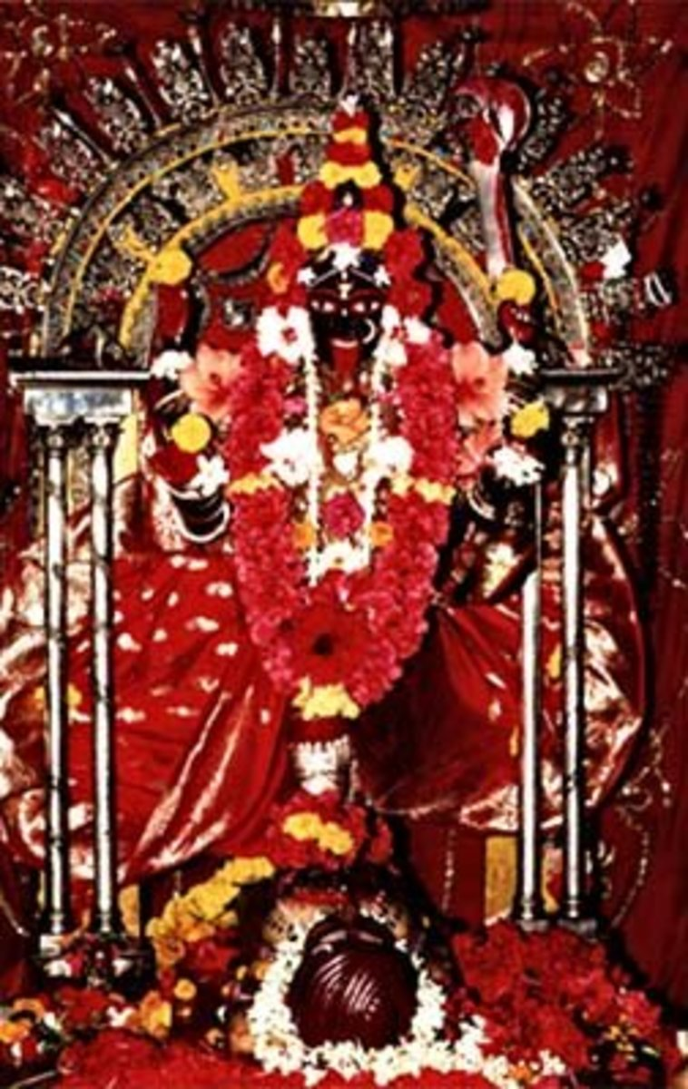 Goddess Kali idol at Dakshineshwar Temple