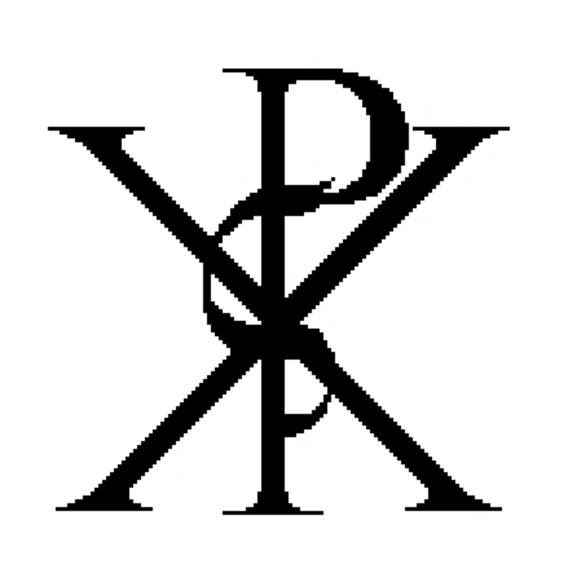 Monogram of Christos superimposed
